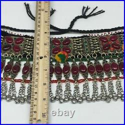 12x5 Kuchi Choker Multi-Color Tribal Gypsy Bohemian Statement Bells, CK550