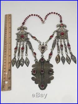 142.5g, Antique Afghan Turkmen Necklace Statement @Afghanistan, Gold-Gilded, TN351