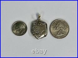 14k Gold Widow's Mites Judean Kingdom Alexander Jannaeus 103-76 BC Coin Pendant
