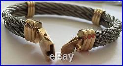 14k Stainless Steel & Gold Bracelet