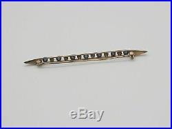 14k pearl sapphire bar pin