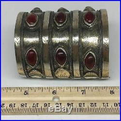 173.7g, 3.1x2.5 Turkmen Bracelet Cuff Old Vintage Gold-Gilded Statement, TN696