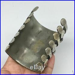 175g, 3.2x2.6 Turkmen Bracelet Cuff Old Vintage Gold-Gilded Statement, TN694