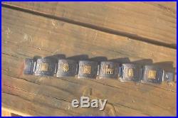 18k Yellow Gold Sterling Silver Peruvian Inca Tribal Panel Bracelet 18kt 925