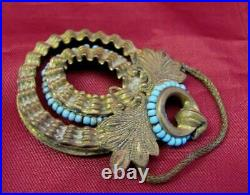 19c. Antique Turkish Ottoman Jewelry Set Necklace & Earring