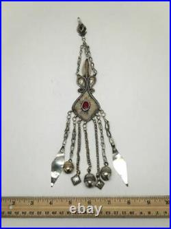 1pc Old Vintage Afghan Turkmen ATS Tribal Gold-Gilded Tassel Pendants, TK60