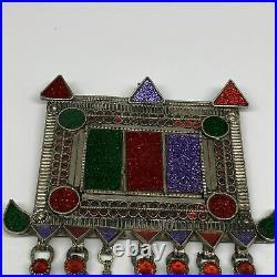 211g, 6.5x6, Kuchi Pendant Large Ethnic Tribal Gypsy, ATS, @Afghanistan, B14346