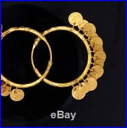 22 K Yellow Gold Handmade Earring Vintage Antique Traditional Dangling Earring