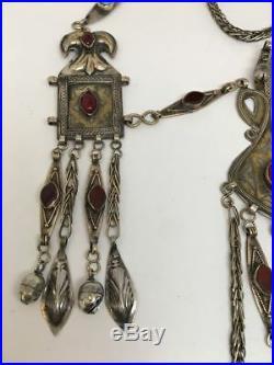 220 Grams Old Vintage Afghan Turkmen Tribal Gold-Gilded Necklace, TN91
