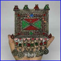 252.2g, 7x5.4, Kuchi Pendant Large Ethnic Tribal Gypsy, ATS, @Afghanistan, B143