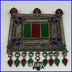 255.4g, 7x5.3, Kuchi Pendant Large Ethnic Tribal Gypsy, ATS, @Afghanistan, B143