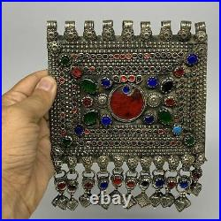 292.6g, 7x5.5, Kuchi Pendant Large Ethnic Tribal Gypsy, ATS, @Afghanistan, B143