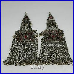 315g, 9.75x3.3, 1 Pair, Kuchi Pendant Ethnic Tribal Gypsy, ATS, @Afghanistan, B