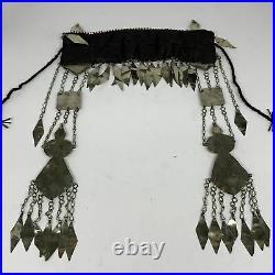 330g, 12.5 Vintage Turkmen Headdress Headpiece Tribal @Afghanistan, B14484