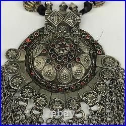 335g, 36 Kuchi Necklace/Belt Dome Ethnic Tribal Gypsy @Afghanistan, B14449