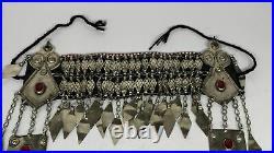 380g, 12.5 Vintage Turkmen Headdress Headpiece Tribal @Afghanistan, B14481