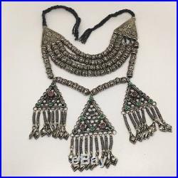 394 Grams, Vintage Afghan Tribal Kuchi Jingle Chain ATS Pendant Necklace, KN417