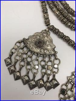 404 Grams, Vintage Afghan Tribal Kuchi Jingle Chain ATS Pendant Necklace, KN416