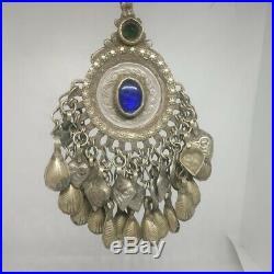 4pcs Old Afghan Turkmen Tribal ATS Tassel Pendant Tribal German Silver