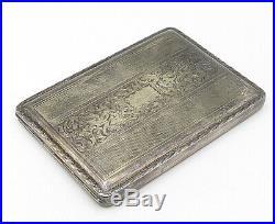 AKP ENGLAND 925 Silver Vintage Antique Swirl Detailed Cigarette Case T1496