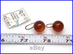 ANTIQUE/VTG BALTIC COGNAC COLOR GRADUATED AMBER NECKLACE AND EARRINGS