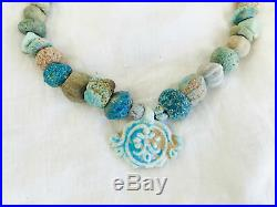 Ancient Roman Glass Necklace. Excavated
