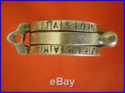 Antique 100% authentic silver ring sundial IO. H. S. Thon Anno. 1721 VERY RARE