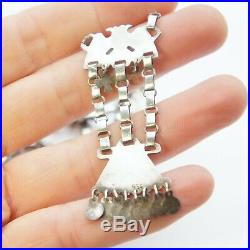 Antique 19thc Bulgarian Judaica Jewish 950 Silver Ethnic Necklace