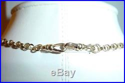 Antique 9CT Solid Gold Albert Pocket Watch Belcher Chain Necklace 18.5 Long