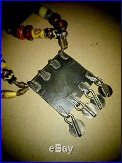 Antique Chinese, Mongolian, AfricanTribal Necklace ARTISAN MADE OOAK
