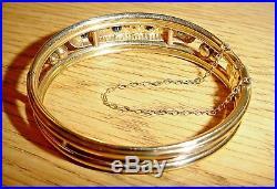 Antique Edwardian 9ct Gold Bangle Needs Repair