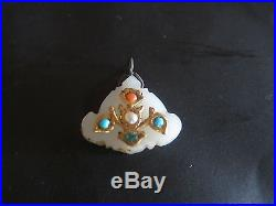 Antique Mogul mutton fat jade pendant. Jewels-gold, Free Shipping