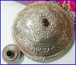 Antique Ottoman Silver Buckle Belt