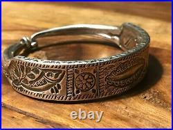Antique Signed Silver Tribal Ethnic Bracelet Bangle. JEWELS arts, Santa Fe