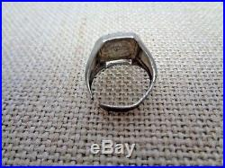 Antique Sterling Silver Ring Indian Head Design Rare Charles M. Robbins