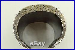 Antique Tekke Turkoman Tribal Silver Cuff Bracelet