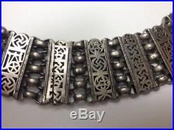 Antique Tribal Ottoman Silver Heavy Link Bracelet OLD