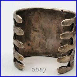Antique Turkoman Silver Cuff Bracelet Circa 1870