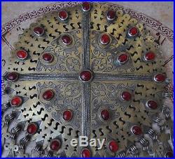 Antique Turkoman Tekke gilded Silver Pendant