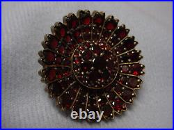 Antique Vintage Bohemian Magnificent Rose Cut Garnet Pin