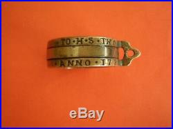 Antique and 100% authentic brass ring sundial IO. H. S. Thon Anno. 1721- VERY RARE