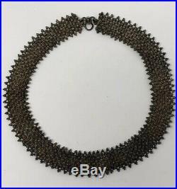 Antique stunning Yemenite yemen Filigree Ornate sterling silver Tribal necklace