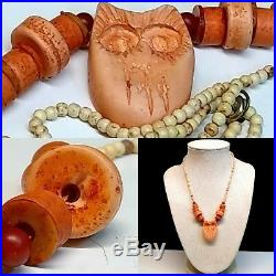 Authentic Taboo Tribal Owl Necklace W Handmade Beads unknown Tribe Affiliation