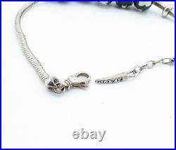 BACIO ITALY 925 Silver Vintage Cubic Zirconia & Enamel Chain Bracelet B8166