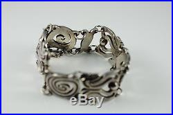 Beautiful Antique Mexican Taxco Sterling 980 Bracelet