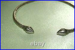 Beautiful Vintage Sterling Silver Trinidad Cuff Bracelet Bangle