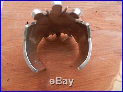 Beautiful William Spratling Sterling Silver And Amethest Cuff Bracelet, 136 Grams