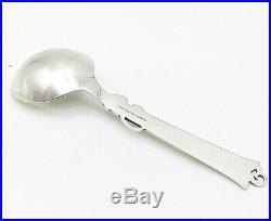 COHR DENMARK 925 Silver Vintage Swirl Floral Leaf Detailed Soup Spoon T1598