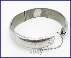CPS ENGLAND 925 Silver Vintage Floral Vine Etched Bangle Bracelet B5238
