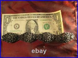 CROATIA vintage ethnic filigree solid silver bracelet 37.68 grams